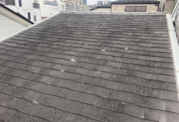 現場調査 屋根の劣化状況を確認