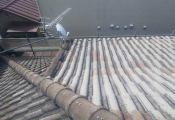 現場調査 屋根の様子を別角度から