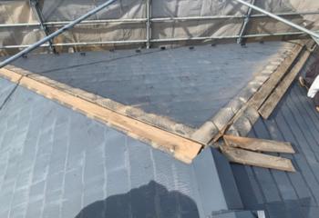 現場調査 屋根の状態確認