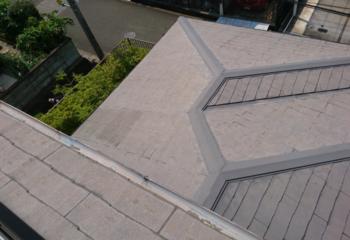 屋根工事開始 太陽光パネル取り外し