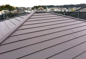 生駒市のカバー工法による屋根リフォームが完成