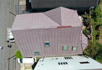 現場調査 屋根をドローンで確認