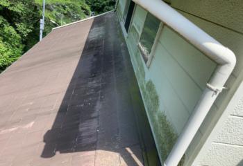 現場調査 (3)外壁と屋根の取り合い部の状態