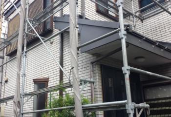 屋根カバー工法 (7)破風板の仕上げ