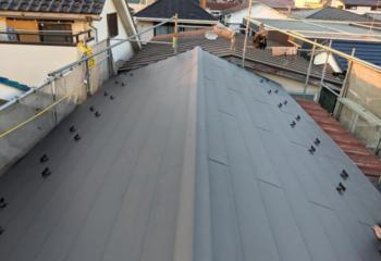 築40年の瓦屋根葺き替えリフォーム工事完成