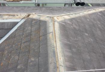 屋根カバー工法 (1)工事開始