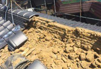 葺き土を撤去