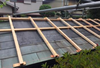 下屋根のかさ上げ1