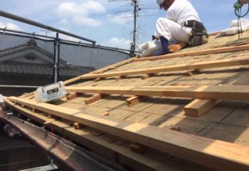 屋根の下地調整