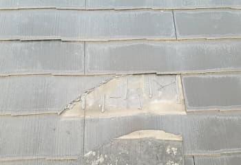 割れたコロニアルの部分修理(工事前)