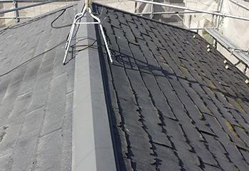 エスジーエル鋼板で屋根カバー工法(工事前)