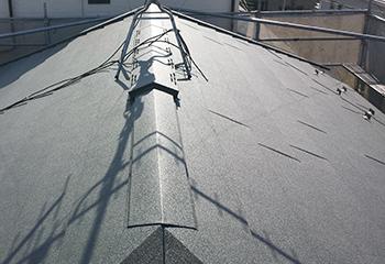 エスジーエル鋼板で屋根カバー工法(工事後)