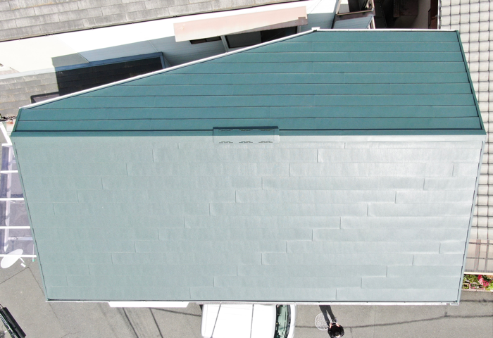 リフォーム後の金属屋根