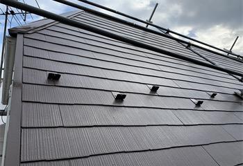シリコン系塗料による屋根塗装(工事後)