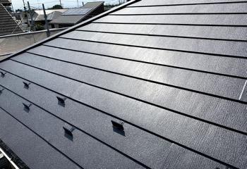金属屋根をエスジーエル鋼板に葺き替え(工事後)
