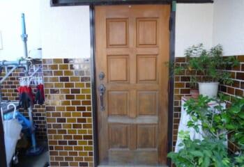 玄関ドア交換(交換前)
