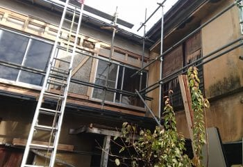 既存外壁材の撤去