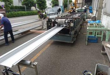折板屋根の製作
