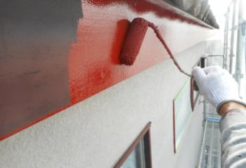 破風板塗装(下塗り)