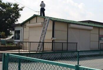 倉庫屋根の現場調査 リフォーム