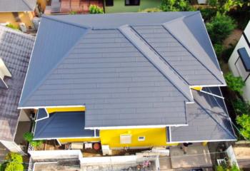 伊丹市で施工した屋根リフォームの施工写真