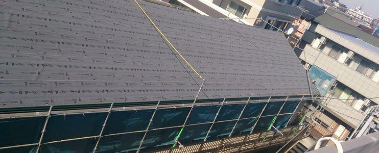 アパートマンションの屋根工事写真