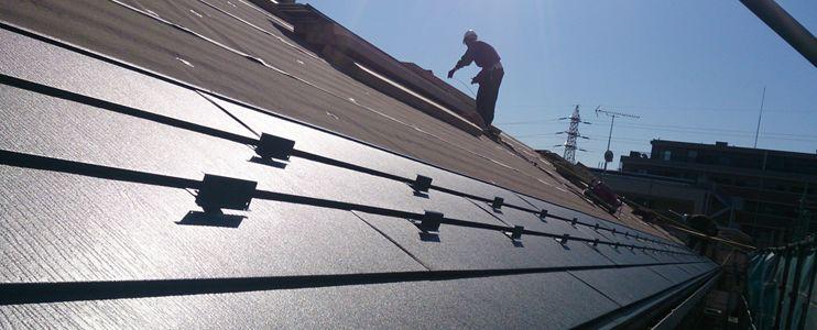 ガルバリウム鋼板作業画像