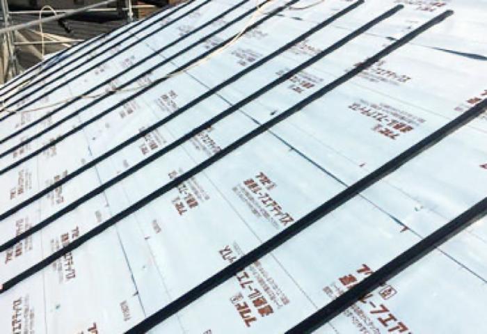 屋根通気工法の施工写真