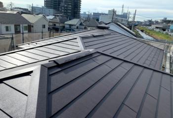 金属屋根の施工写真