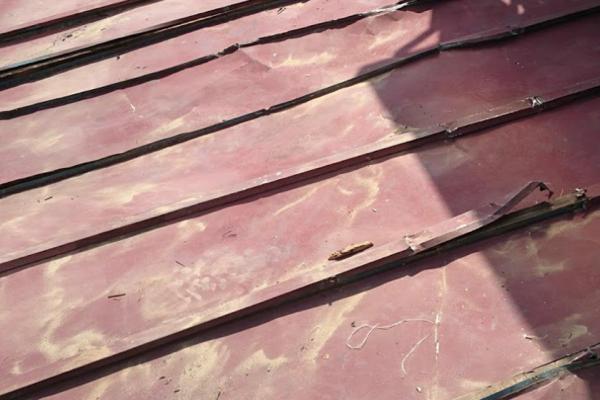 縦葺きのトタン屋根