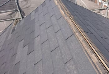 屋根工事開始