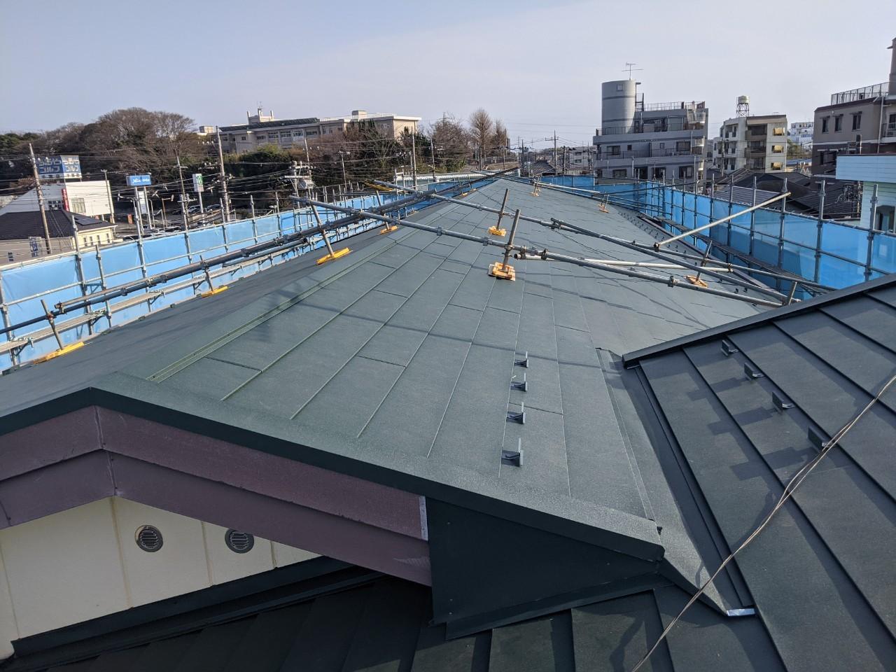 「野地板増し張りカバー工法」で改修したリフォーム工事が完成
