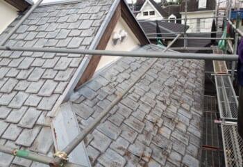 工事開始時の屋根の様子