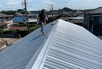 我孫子市 | 波型スレート工場の屋根をスレッシュルーフでカバー工法
