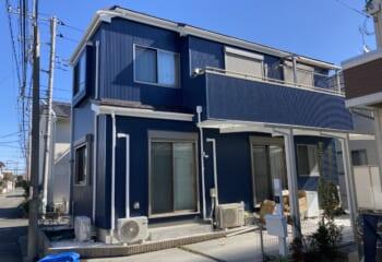 武蔵野市 | 縦張り金属サイディングで外壁リフォーム
