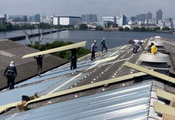 折板屋根取り付け